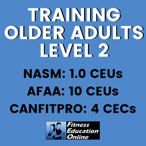 Training Older Adults Level 2