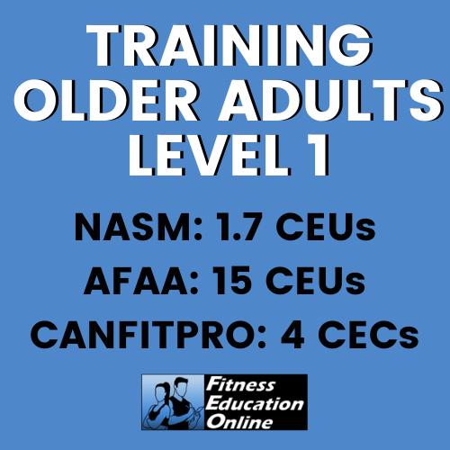 Training Older Adults Level 1